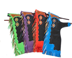Youth Rodeo Chaps with Leg Design All Colors
