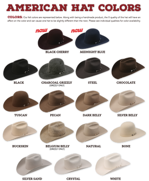American Felt Hat Colors