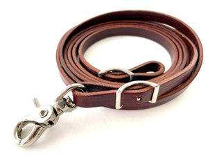 Latigo Leather Roping Reins - 1/2""