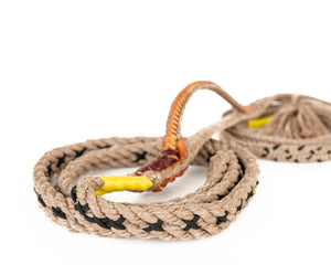 Laced traditional poly bull rope material