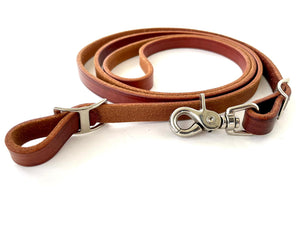 Leather Roping Rein Oiled - 1/2""