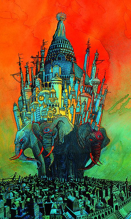 Elephant Kings Print