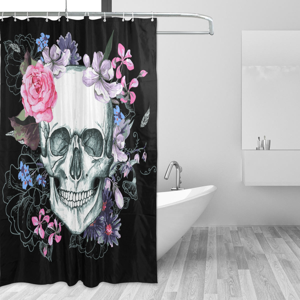 Sugar Skull Day Of The Dead Shower Curtain 72x72 Inch