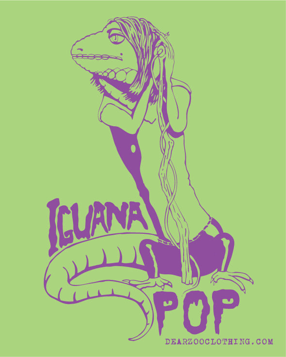 Iguana Pop Vinyl Sticker