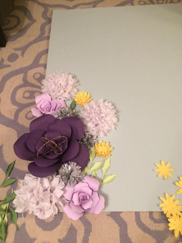 diy flower backdrop