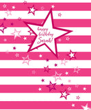 Pink and White Happy Birthday Backdrop - The Backdrop Store