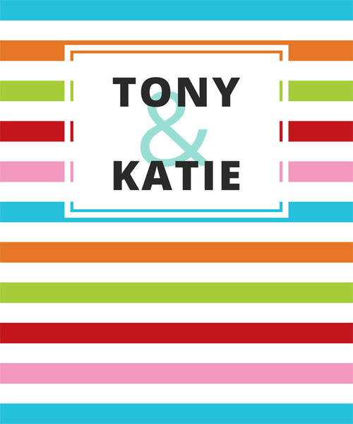 Colorful Personalized Backdrop - The Backdrop Store