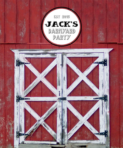 Red Barn Party Backdrop - The Backdrop Store