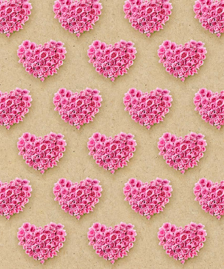 Pink Valentines Stripe Backdrop