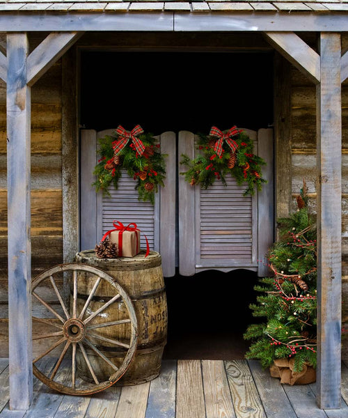Western Christmas Backdrop