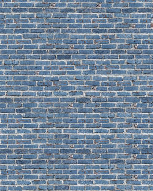 Royal Blue Brick Backdrop