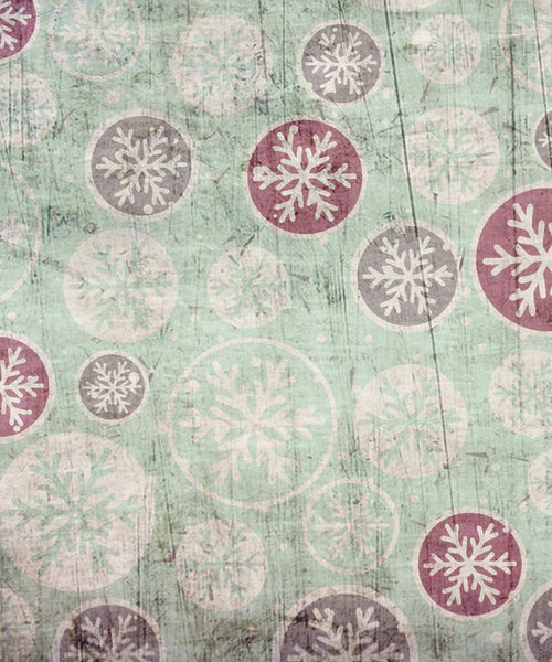Vintage Snowflake Ornament Backdrop - The Backdrop Store