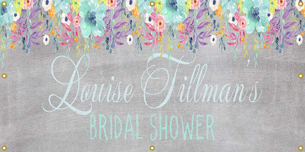 Personalized Bridal Shower Banner - The Backdrop Store