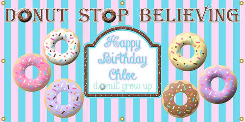Donut Birthday Banner - The Backdrop Store