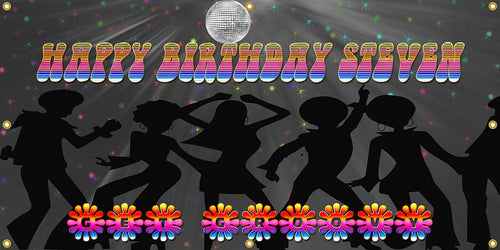 Custom Disco Party Banner - The Backdrop Store