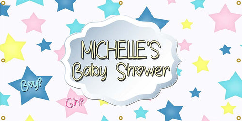Star Baby Shower Banner - The Backdrop Store