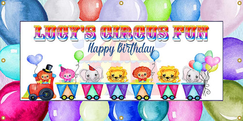 Circus Party Custom Banner - The Backdrop Store