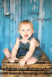 Printed Blue Wood Backdrop - The Backdrop Store