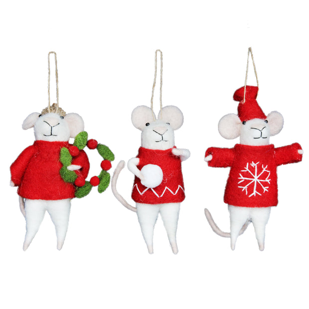 Mouse with Red Jumper  - Decoration