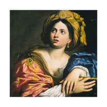 a reproduction of the painting, A Sibyl by Domenichino, as a greetings card