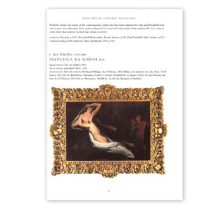 Page 37 from the book, Anatole Demidoff: Prince of San Donato, with text and an image of the painting, Francesca da Rimini by Ary Scheffer