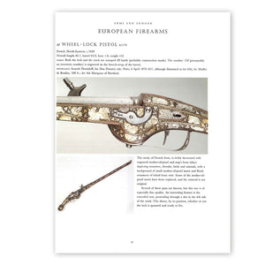 Page 97 from Anatole Demidoff: Prince of San Donato, with a sub-heading of 'European Firearms' and a photograph of a wheel-lock pistol