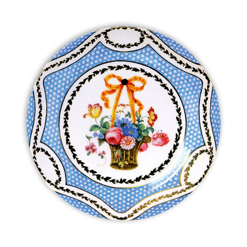 Basket of Flowers Decorative Tin Plate