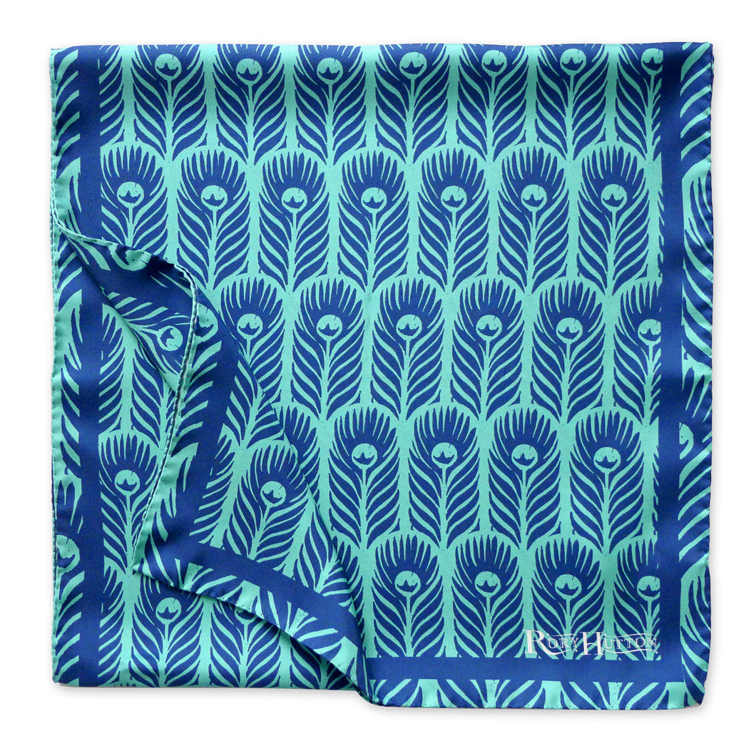 Rory Hutton Peacock Long Silk Scarf