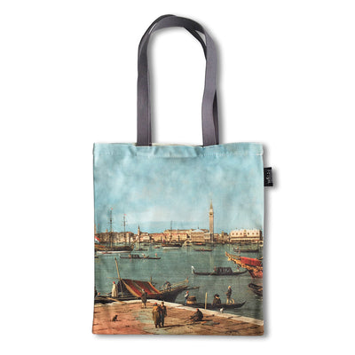a tote bag of Canaletto's painting, Venice: the Bacino di San Marco from San Giorgio Maggiore