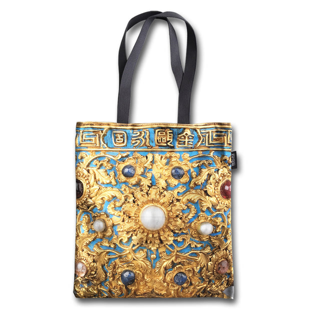 Gold Wine Cup Tote Bag