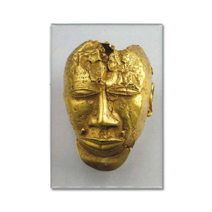 Gold Trophy Head Magnet