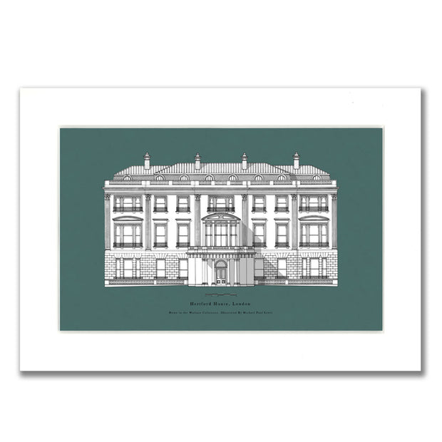 Hertford House Green Mounted Print by Michael Paul Lewis
