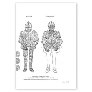 Arms and Armour in the collection of Her Majesty the Queen, page 187 with two illustrations of armour, one used for the barriers and one for the tilt