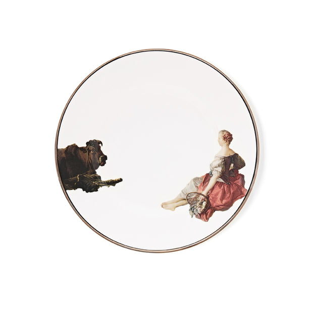 Pastoral Girl Side Plate - by Melody Rose