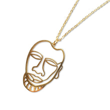 Gold Trophy Head Necklace - by Esa Evans