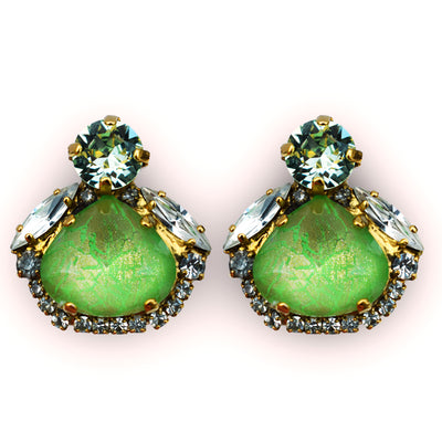 Little Sweetie Earrings Green - by Vicki Sarge
