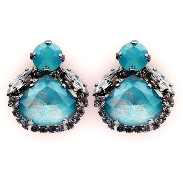 Little Sweetie Earrings Turquoise - by Vicki Sarge