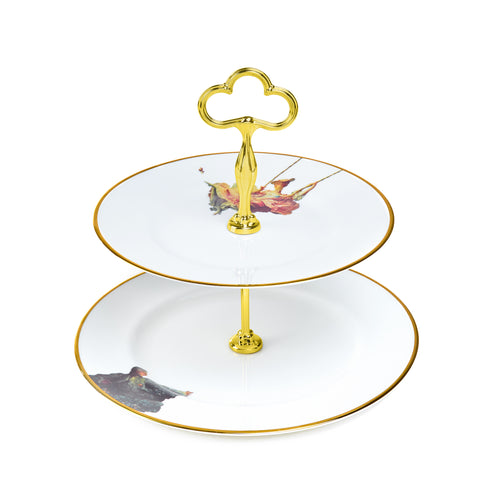 The Swing Two Tier Cake Stand - by Melody Rose