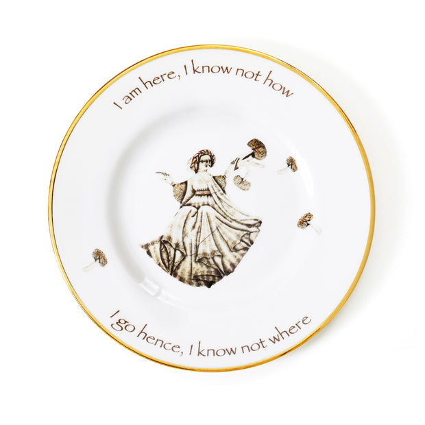 'I am here' Fine Bone China Dinner Plate by Melody Rose for the Wallace Collection