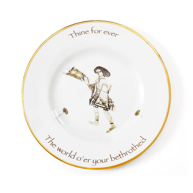 'Thine Forever' fine bone china dinner plate by designer Melody Rose