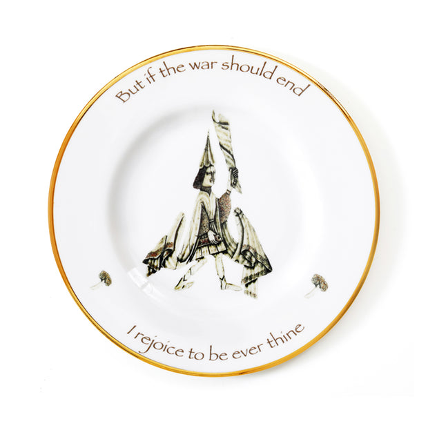 'Rejoice' Dinner Plate by Melody Rose