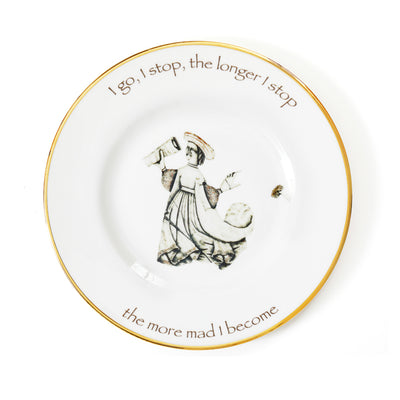'I go, I stop' Fine Bone China Dinner Plate by Melody Rose for the Wallace Collection
