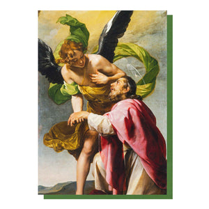 Saint John the Evangelist's Vision of Jerusalem Greetings Card