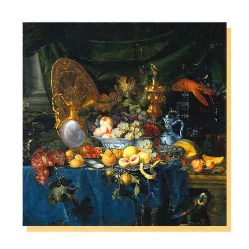 Still Life with Parrot Greetings Card