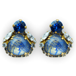 Little Sweetie Earrings Blue - by Vicki Sarge