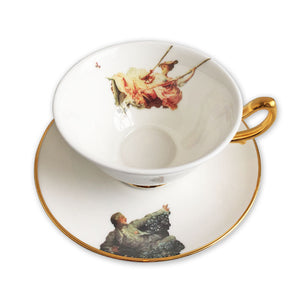 The Swing Tea Cup and Saucer - by Melody Rose