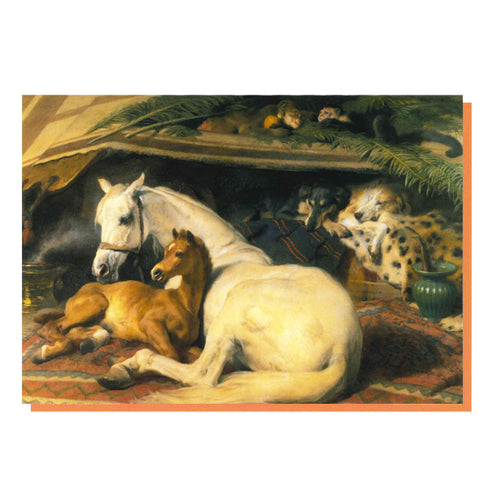 The Arab Tent by Edwin landseer, Greetings Card, from the Wallace Collection