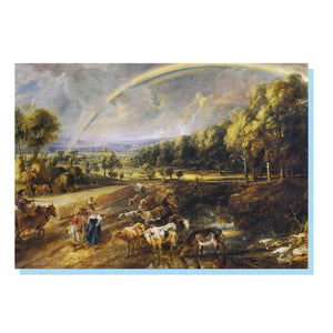 The Rainbow Landscape Greetings Card