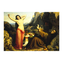The Temptation of Saint Hilarion Greetings Card