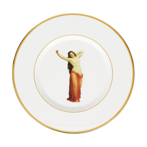 The Temptation Collection, Large Dinner Plate by Melody Rose. Made in England with Fine Bone China and hand gilded.